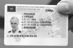 Vairuotojo pažymėjimas
