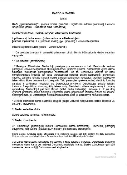 šveicarijos namų darbo sutartis)